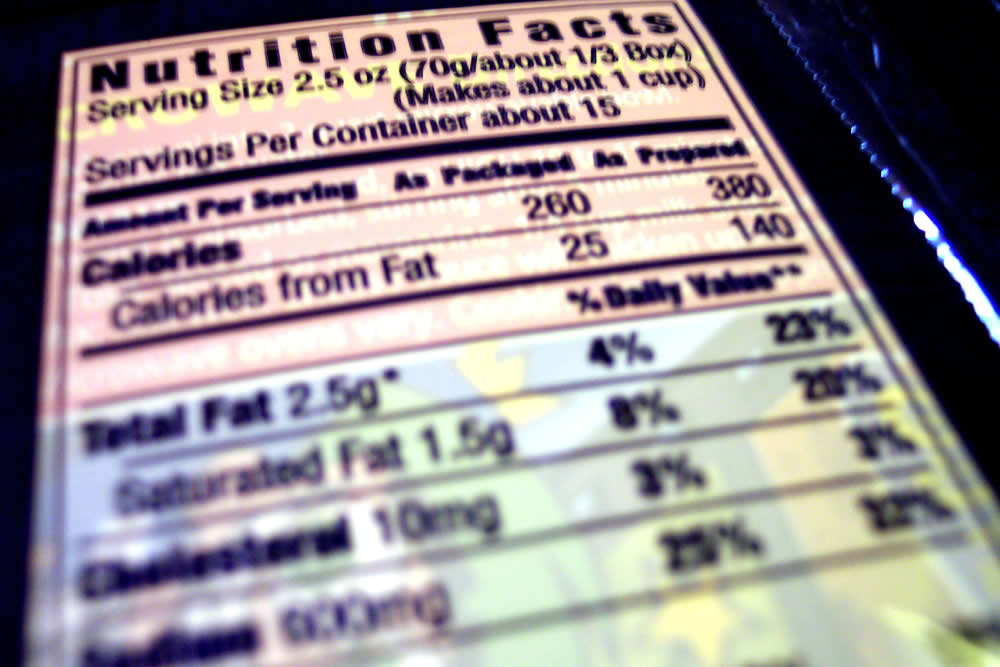 nutrition facs label